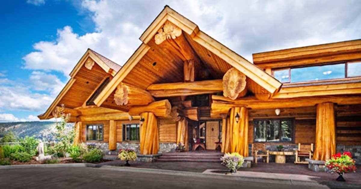 Enter This Imposing Cedar Log Home Every Room Is Unlike